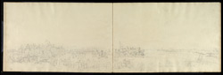 Panorama of a review of troops, probably at Lucknow.